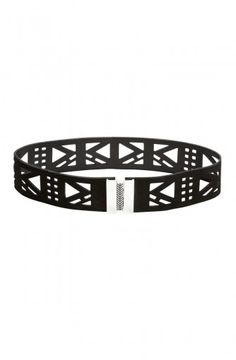 Laser cut leather belt by sass & bide