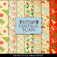 TONS of cute paper packs and other freebies! Far Far Hill: Free Vintage Papers