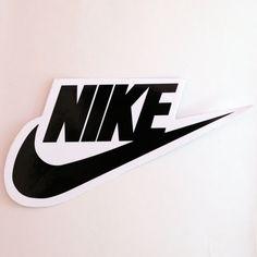 #1775 Nike Black and White Swoosh Logo , 13 x 7 cm decal sticker - DecalStar.com