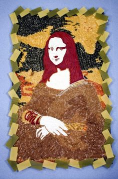 Culinary artist Prudence Emma Staite sculptured her own version of the Mona Lisa out of 10,000 pieces of pasta