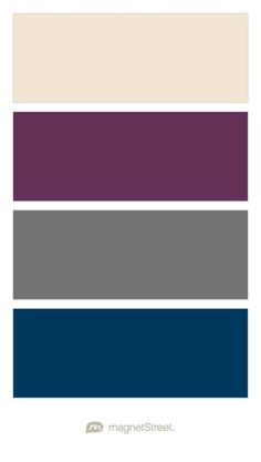 Champagne, Eggplant, Charcoal, and Navy Wedding Color Palette - custom color palette created at MagnetStreet.com