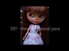 DIY   Vestido Balonê para Blythe - YouTube  выкройка!