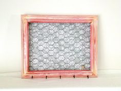 Distressed Pink Chicken Wire Frame with Gray by MonCheriShop, $28.00