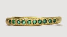 Katherine Bowman 18ct yellow gold 'Possibilities' ring with emeralds