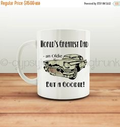ON SALE Father's Day Mug - Classic Car Mug - Mugs for Dad - Coffee Mug - Car Themed Coffee Mug - Gifts for Him - Father's Day Gifts by GypsyJunkClothing