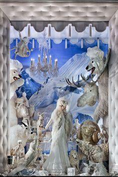Arctic Garden Party (window at Bergdorf Goodman)