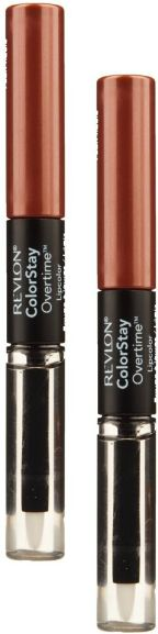 This lasts a long time, and is my go-to lip color - it's perfect- it goes with everything & is a good neutral color. Revlon ColorStay Overtime Liquid Lip Color, Faithful Fawn