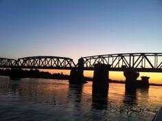 Railway bridge between Finland and Sweden at Haparanda-Tornio