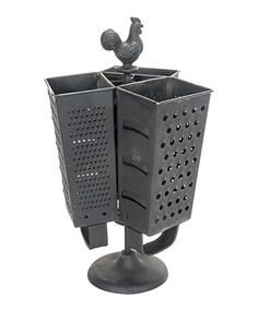 Another great find on #zulily! Rooster Cheese Grater Three-Section Utensil Holder #zulilyfinds