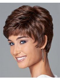 Wigsis provides variety of Easy Auburn Boycuts Wavy Short Wigs with good customer service and fast shipment, including short curly wigs,short brown wig for customer. Short Wavy Pixie, Short Curly Wigs, Short Layered Haircuts, Short Grey Hair, Short Hair With Layers, Short Hair Cuts For Women, Short Hairstyles For Women, Haircut Short, Cut Hairstyles