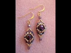 This week, earring project this week. This is a great project for all levels. Kelly also has written patterns and kits available to purchase on Etsy. www.ets...