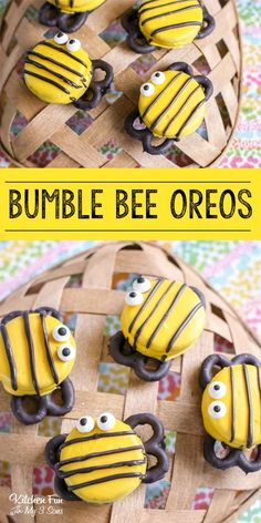 Bumble Bee Oreos Bumble Bee Oreos Bumble Bee Oreos are so stinking cute! If you're looking for a fun treat for the kids or you're having a Bumble Bee themed birthday party this is for you. Cute Food, Good Food, Yummy Food, Fun Cooking, Cooking With Kids, Healthy Cooking, Fun Food For Kids, Holiday Treats, Holiday Recipes