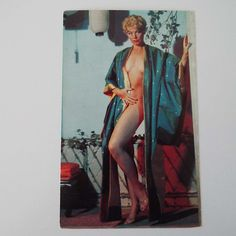 Vintage 1950's Lili St Cyr Colour Photograph Postcard El Rancho Nude Glamour Burlesque Risque Striptease Rockabilly Unused Condition by VintageBlackCatz on Etsy