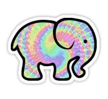 2b102d858 Water color ivory Ella logo. Elephant Sticker Yeti Stickers