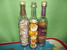 decoracion botellas llenas de - Buscar con Google