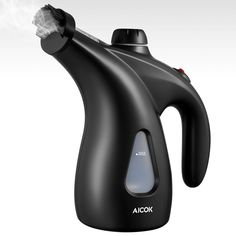 Aicok Clothes Steamer, 900W Fast-Heat Powerful Travel Steamer, 200ml High Capacity Garment Steamer Perfect for Home and Travel, Portable Handheld Fabric Steamer with Brush and Travel Pouch, Black: Amazon.co.uk: Kitchen & Home