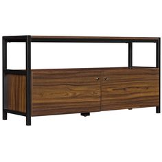 Classic Flame TV Console in Midnight Pine