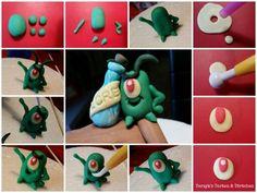 Plankton spongebob fondant tutorial