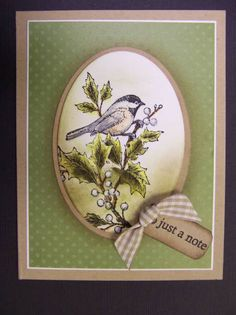 *CC351 Just a Note by hobbydujour - Cards and Paper Crafts at Splitcoaststampers