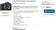 Canon 7D Drops to Lowest Price Ever: $1,000 ($1,100 with 28-135mm lens!); Details.