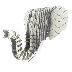 "CarolLynn Tice ""Witty"" Yellow Gray Eyan Elephant Bust Jr."