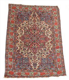 Woolley and Wallis - Bakhtiari rug, Shahr Kord, Chahar Mahal valley, west Persia, c.1930-50, 72½ x 52in (184 x 132cm).