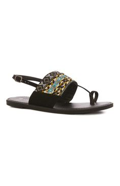 Black Pattern Sandal