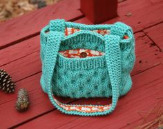 For if I ever take up crocheting - free pattern for an adorable bag
