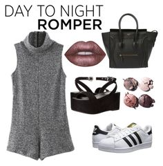 """Untitled #74"" by katya-krasava ❤ liked on Polyvore featuring WithChic, adidas Originals, Kendall + Kylie, Lime Crime, Chanel, DayToNight and romper"