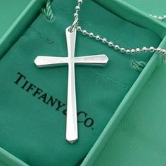 Tiffany Cross Necklace in Solid White Gold amazingness! Love my crosses!!