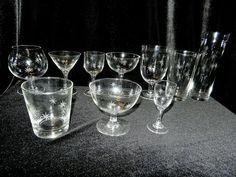 Vintage 1980's 90 Piece Bar Glasses Set