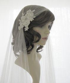 Couture+bridal+cap+veil+1920s+wedding++veil++by+SarahMorganBridal,+£165.00