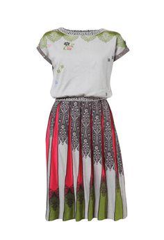 Dress, Ornemant Intarsia - Dress   Ivko Woman