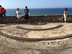 Artillery Tracks Fort San Cristobal, Puerto Rico