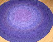 Items similar to CUSTOM 3-Foot Crocheted Upcycled T-Shirt Rug on Etsy