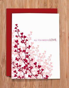 valentine's card / love / heart vines