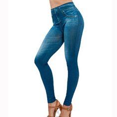 2016 Hot mulheres Sólidos Magro Alta Elastic Leggings Calças Leggings Meninas Com Bolsos Causal Moda Leggins