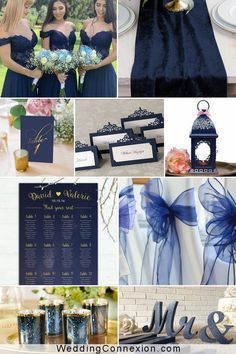 A navy blue and gold wedding theme will bring a flair of elegance and sophistication to your event. Navy blue and gold are both trendy wedding colors and paired they make for a color scheme that is suitable for all seasons. Get inspired by the most alluring options for your navy blue and gold wedding color scheme at WeddingConnexion.com Navy Blue And Gold Wedding, Gold Wedding Colors, Gold Wedding Theme, Blue Wedding Flowers, Wedding Color Schemes, Wedding Themes, Wedding Ideas, Blue Wedding Receptions, Blue Wedding Favors