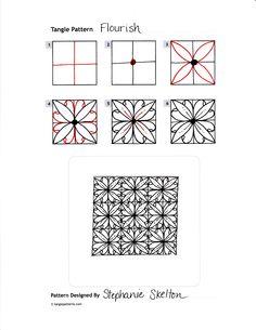 Flourish - tangle pattern instructions