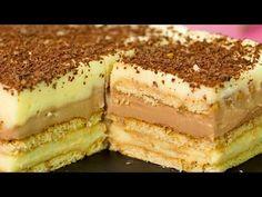 Cel mai original desert fără coacere din toate pe care le-am întâlnit - . French Desserts, No Cook Desserts, Dessert Recipes, No Bake Cookies, Cake Cookies, Types Of Cakes, Tiramisu, Family Meals, Minis
