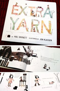 EXTRA YARN: A book about a little girl that knits sweaters for her whole town. Love the illustrations