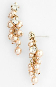 Nina 'Aisley' Faux Pearl Drop Earrings available at #Nordstrom Pearls for Girls would made with cultured pearls!