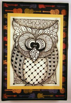 Zentangle Inspired Original Owl in 4x6 Frame by DoodlesByJenAnn, $12.50