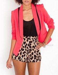 High Waisted Leopard Shorts $17.85