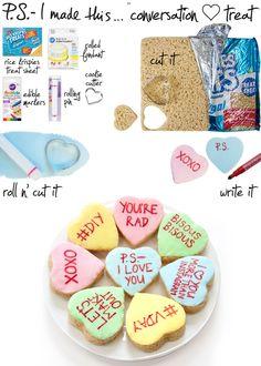 Conversation Heart Treats | 10 Great V-Day DIY Projects