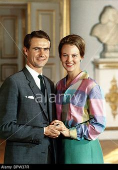 By the end of September Photo taken before the official engagement on Octorber of Princess Margrethe and her fiancé Henri Laborde-de Monpezat later Prince Henrik and Queen Margrethe in 1967