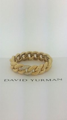 David Yurman The Belmont Curb Link Bracelet 18k with Diamonds (Retail)19,500.00