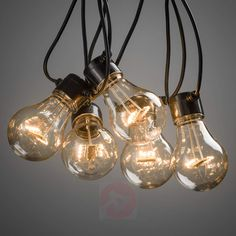 Lichterkette Biergarten 20x Birne klar bernstein-5524735-01 Ambre, Lampe Led, Transparent, Light Bulb, Pergola, Ceiling Lights, Deco, Lighting, Christmas