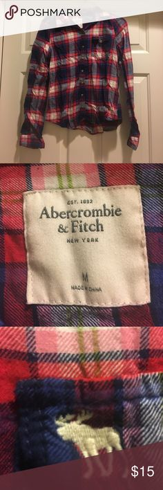Abercrombie & Fitch button down Abercrombie &a Fitch button down. 100% cotton. *Proceeds from all my sales through 3/27 will be donated to Big Brothers Big Sisters of South Central Indiana* Abercrombie & Fitch Tops Button Down Shirts