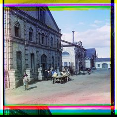 Mechanical shops for the finishing of artistic castings [Kasli], 1910 (in album: Views in the Ural Mountains, survey of industrial area, Russian Empire). Sergeĭ Mikhaĭlovich Prokudin-Gorskiĭ